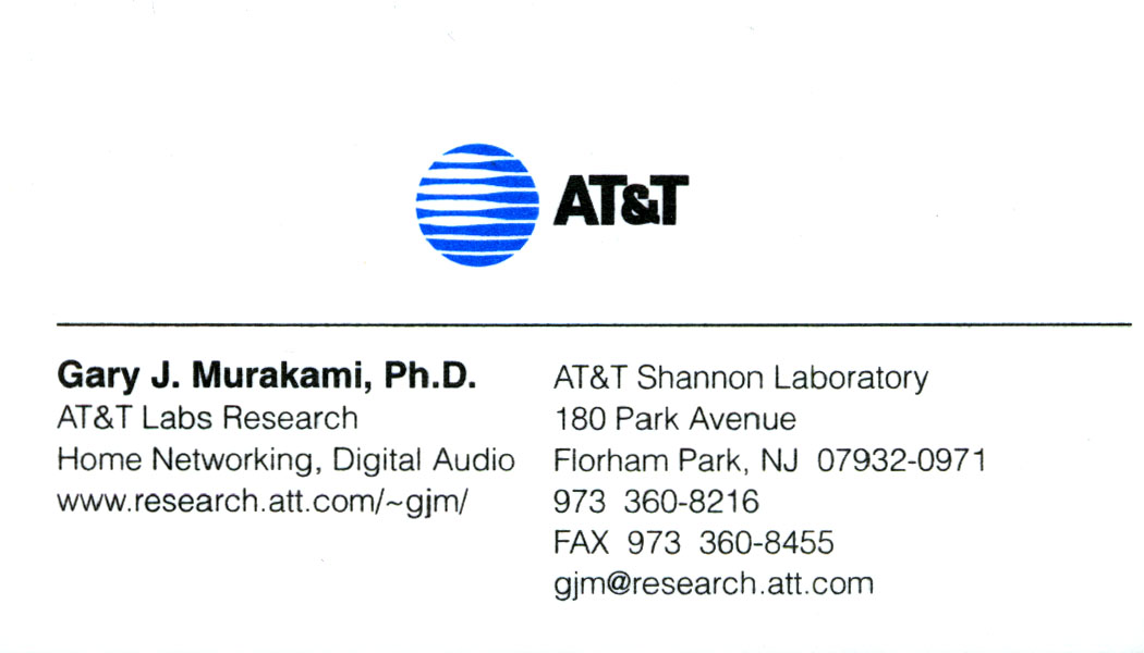 AT&T Business Cards - Gary J. Murakami